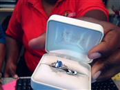 Iolite Gold-Diamond & Stone Scrap 14 Diamonds .14 Carat T.W. 10K White Gold